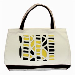 Yellow Decor Basic Tote Bag by Valentinaart