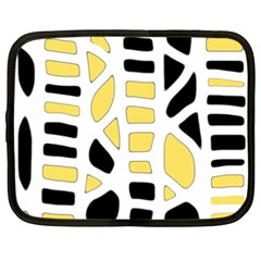 Yellow Decor Netbook Case (xxl)  by Valentinaart