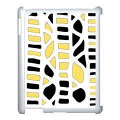 Yellow Decor Apple Ipad 3/4 Case (white) by Valentinaart