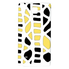 Yellow Decor Galaxy Note 4 Back Case by Valentinaart