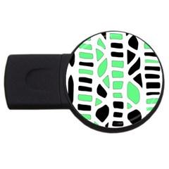 Light Green Decor Usb Flash Drive Round (2 Gb)  by Valentinaart