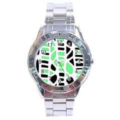 Light Green Decor Stainless Steel Analogue Watch by Valentinaart