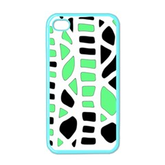 Light Green Decor Apple Iphone 4 Case (color) by Valentinaart
