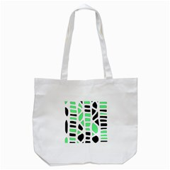 Light Green Decor Tote Bag (white) by Valentinaart