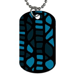 Deep Blue Decor Dog Tag (two Sides) by Valentinaart