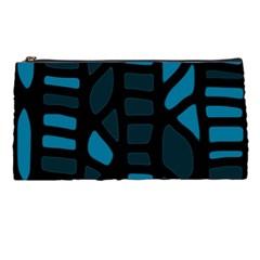 Deep Blue Decor Pencil Cases by Valentinaart