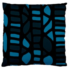 Deep Blue Decor Standard Flano Cushion Case (two Sides) by Valentinaart