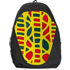 Yellow, Green And Red Decor Backpack Bag by Valentinaart