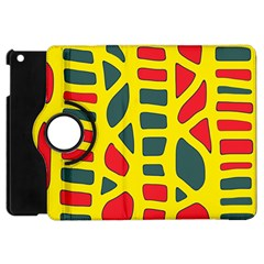 Yellow, Green And Red Decor Apple Ipad Mini Flip 360 Case by Valentinaart