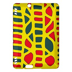 Yellow, Green And Red Decor Kindle Fire Hdx Hardshell Case by Valentinaart