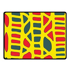 Yellow, Green And Red Decor Double Sided Fleece Blanket (small)  by Valentinaart