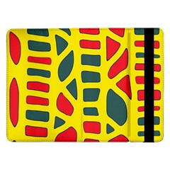 Yellow, Green And Red Decor Samsung Galaxy Tab Pro 12 2  Flip Case by Valentinaart