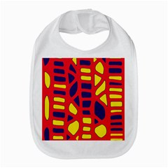 Red, Yellow And Blue Decor Bib by Valentinaart