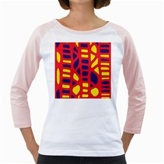 Red, yellow and blue decor Girly Raglans by Valentinaart