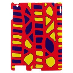 Red, yellow and blue decor Apple iPad 2 Hardshell Case by Valentinaart