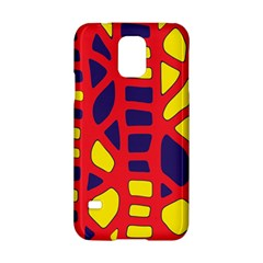 Red, Yellow And Blue Decor Samsung Galaxy S5 Hardshell Case  by Valentinaart