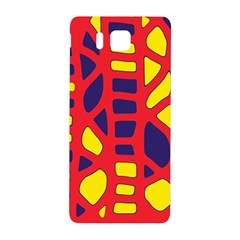 Red, Yellow And Blue Decor Samsung Galaxy Alpha Hardshell Back Case by Valentinaart