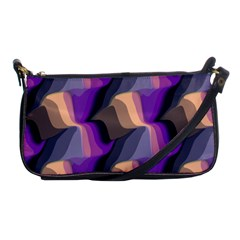 Wavy Pattern                                                                                           			shoulder Clutch Bag by LalyLauraFLM