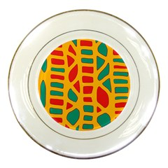 Abstract Decor Porcelain Plates by Valentinaart