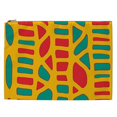 Abstract Decor Cosmetic Bag (xxl)  by Valentinaart
