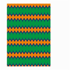 Orange Green Chains                                                                                            Small Garden Flag by LalyLauraFLM