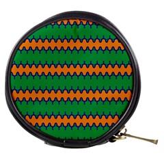 Orange Green Chains                                                                                            Mini Makeup Bag by LalyLauraFLM
