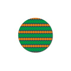 Orange Green Chains                                                                                            			golf Ball Marker (4 Pack) by LalyLauraFLM