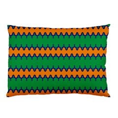 Orange Green Chains                                                                                            			pillow Case by LalyLauraFLM