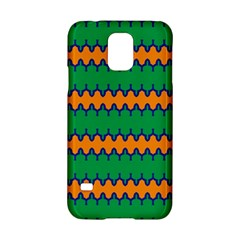 Orange Green Chains                                                                                           			samsung Galaxy S5 Hardshell Case by LalyLauraFLM