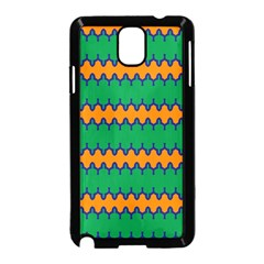 Orange Green Chains                                                                                           			samsung Galaxy Note 3 Neo Hardshell Case (black) by LalyLauraFLM