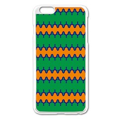 Orange Green Chains                                                                                           			apple Iphone 6 Plus/6s Plus Enamel White Case by LalyLauraFLM