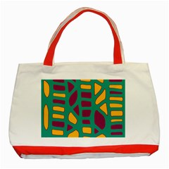 Green, Purple And Yellow Decor Classic Tote Bag (red) by Valentinaart