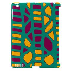 Green, Purple And Yellow Decor Apple Ipad 3/4 Hardshell Case (compatible With Smart Cover) by Valentinaart