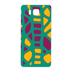 Green, Purple And Yellow Decor Samsung Galaxy Alpha Hardshell Back Case by Valentinaart