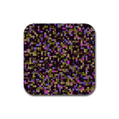 Dots                                                                                             			rubber Square Coaster (4 Pack by LalyLauraFLM