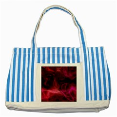 Pink Red Texture                                                                                              			striped Blue Tote Bag by LalyLauraFLM