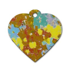 Paint Strokes                                                                                               			dog Tag Heart (one Side) by LalyLauraFLM