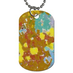 Paint Strokes                                                                                               			dog Tag (one Side) by LalyLauraFLM