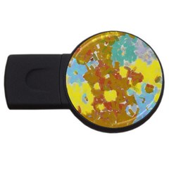 Paint Strokes                                                                                               usb Flash Drive Round (4 Gb) by LalyLauraFLM