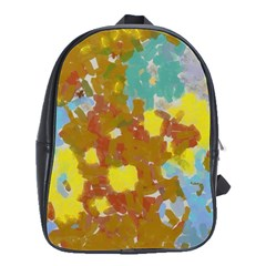Paint strokes                                                                                               			School Bag (Large) by LalyLauraFLM