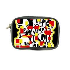 Red And Yellow Chaos Coin Purse by Valentinaart