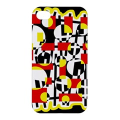 Red And Yellow Chaos Apple Iphone 4/4s Premium Hardshell Case by Valentinaart