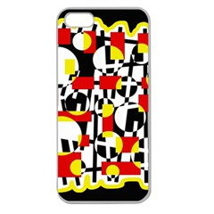 Red And Yellow Chaos Apple Seamless Iphone 5 Case (clear) by Valentinaart