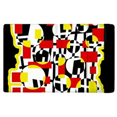 Red And Yellow Chaos Apple Ipad 2 Flip Case by Valentinaart