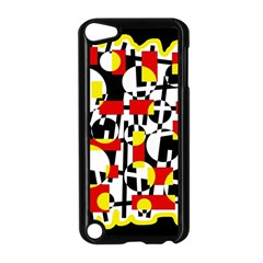 Red And Yellow Chaos Apple Ipod Touch 5 Case (black) by Valentinaart