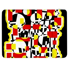 Red And Yellow Chaos Samsung Galaxy Tab 7  P1000 Flip Case by Valentinaart