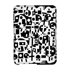 Black and white abstract chaos Amazon Kindle Fire (2012) Hardshell Case by Valentinaart