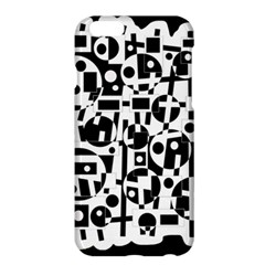 Black And White Abstract Chaos Apple Iphone 6 Plus/6s Plus Hardshell Case by Valentinaart