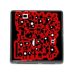 Red Memory Card Reader (Square) by Valentinaart