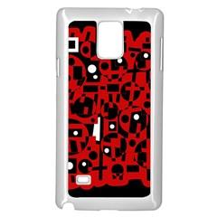 Red Samsung Galaxy Note 4 Case (white) by Valentinaart